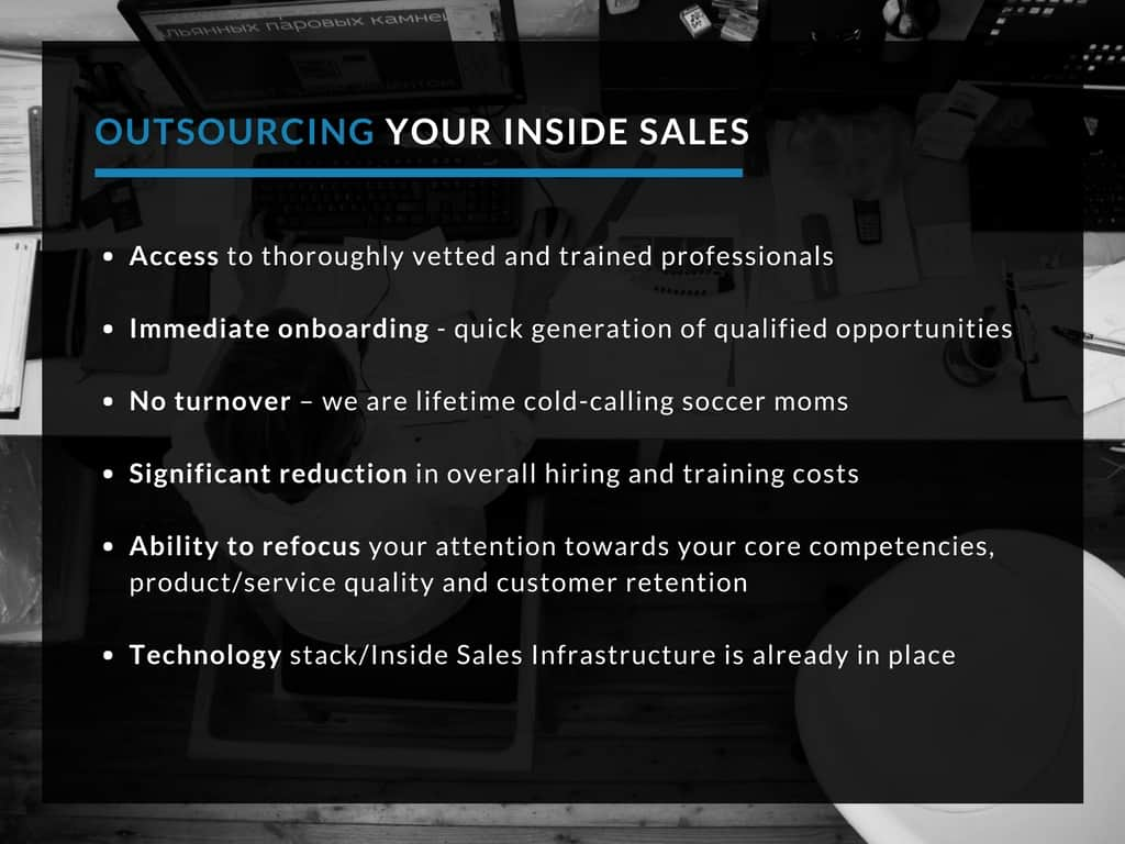 Benefits when you outsource inside sales