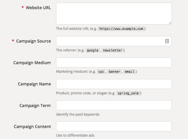 Google's Campaign URL Builder