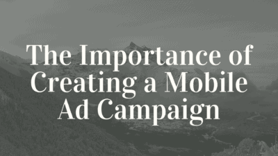 mobile ad campaign - dz blog
